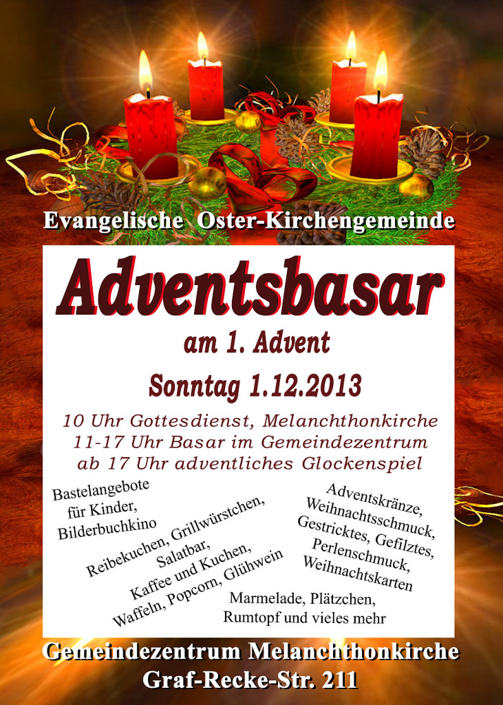 Adventsbasar Plakat 2013 Adventskranz