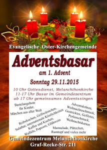 Adventsbasar Plakat 2015
