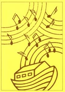 Arche mit Noten in gelb