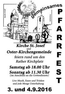 Pfarrfest 2016 Plakat